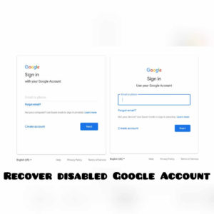recover my google account
