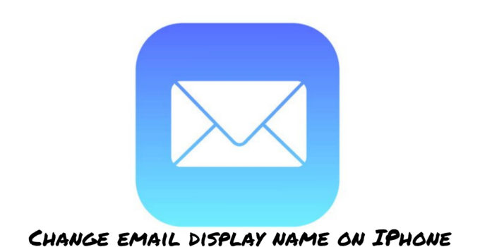 change email display name on iphone