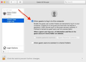 add or remove guest account on mac